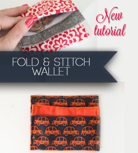 The Fold and Stitch wallet pattern is fast and easy!