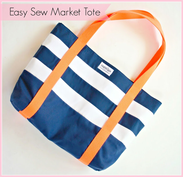 Easy Market Tote from Hungry Hippo Sews