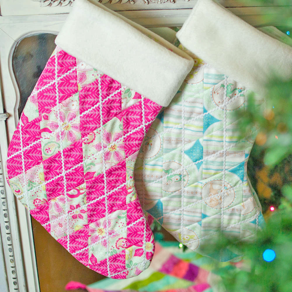Adorable quilted christmas stockings free pattern sewcanshe oh and i found a christmas tree at the thrift store for 5 so i put it up in my sewing room lol i am crazy for christmas right now and my jeuxipadfo Gallery