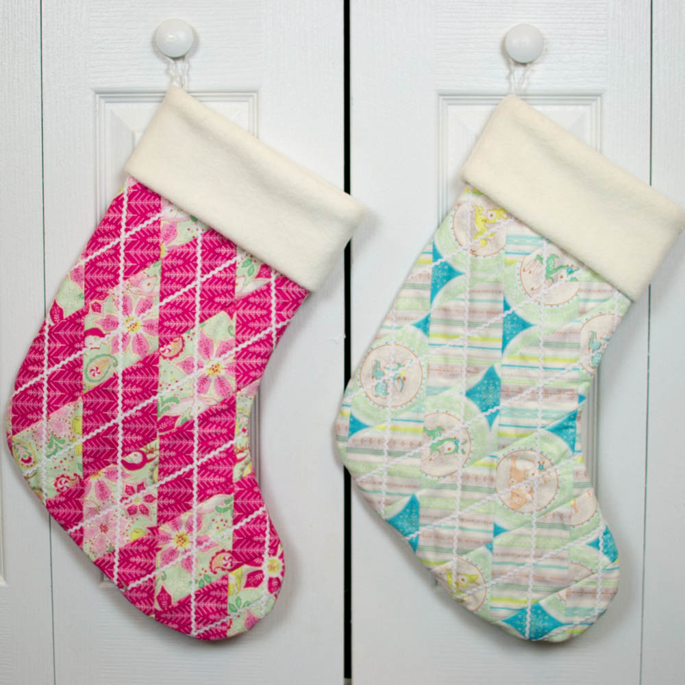 adorable quilted christmas stockings free pattern u2014 sewcanshe