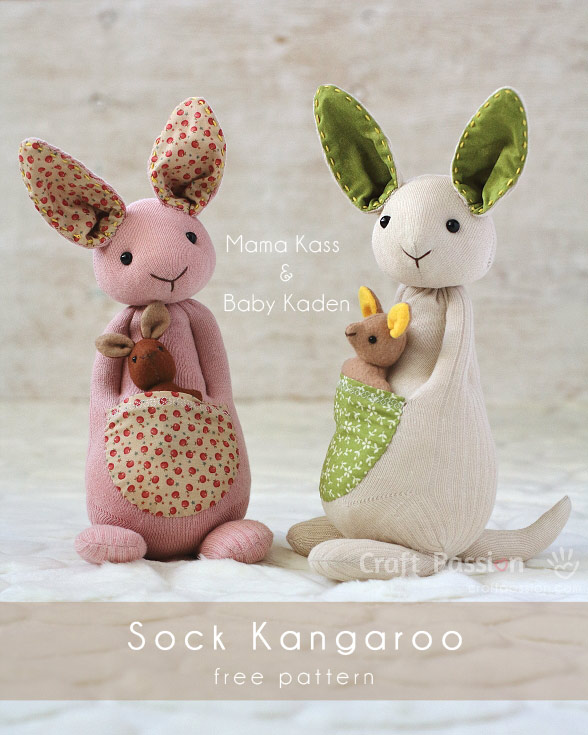 SOCK KANGAROO PATTERN from Craft Passion