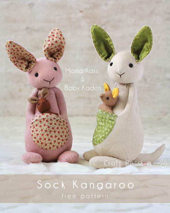 SOCK KANGAROO PATTERN from Craft Passion