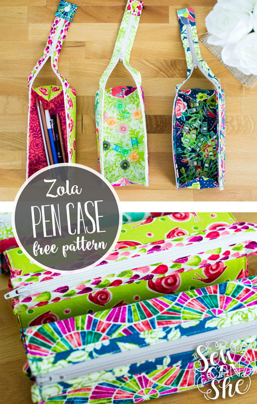 Zola Pen Case {free sewing pattern} — SewCanShe | Free Sewing ...