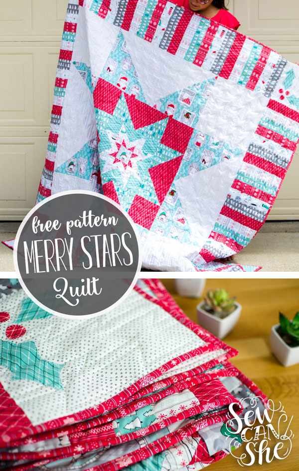 The Merry Stars Quilt Free Pattern Sewcanshe Free Sewing