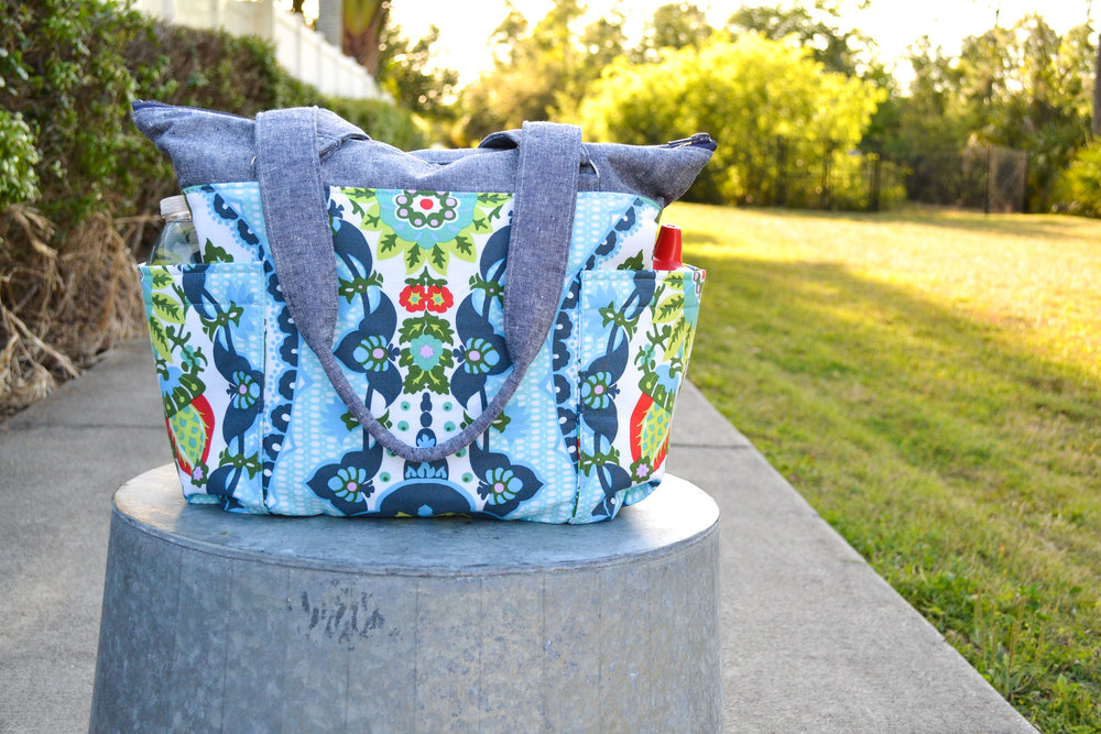 DIY Diaper Bag from Fabric.com