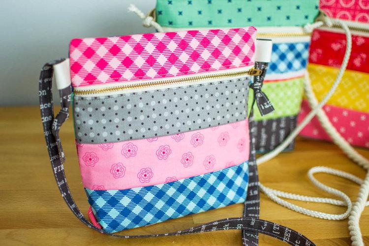 Sew up a Cross Body Zipper Tote! {free pattern!} — SewCanShe | Free ...