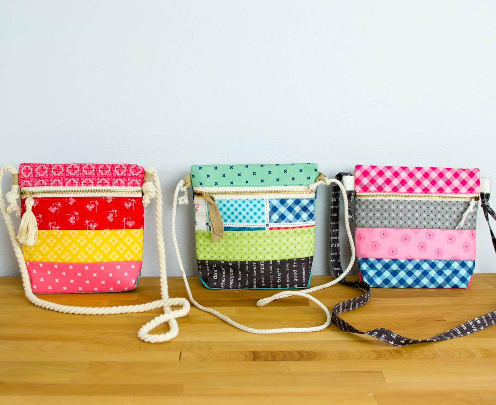 I embellished these zipper totes with zipper pulls made with ribbon