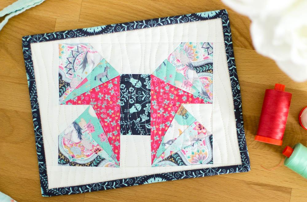Wild Summer Creature Mini Quilt Foundation Paper Piecing Tutorial
