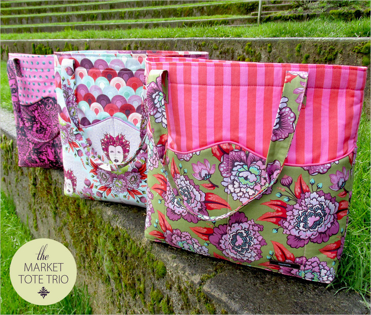 Market Tote Trio from Sew 4 Home