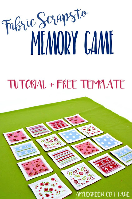 Fabric Matching Scraps Memory Game for Kids from Apple Green Cottage