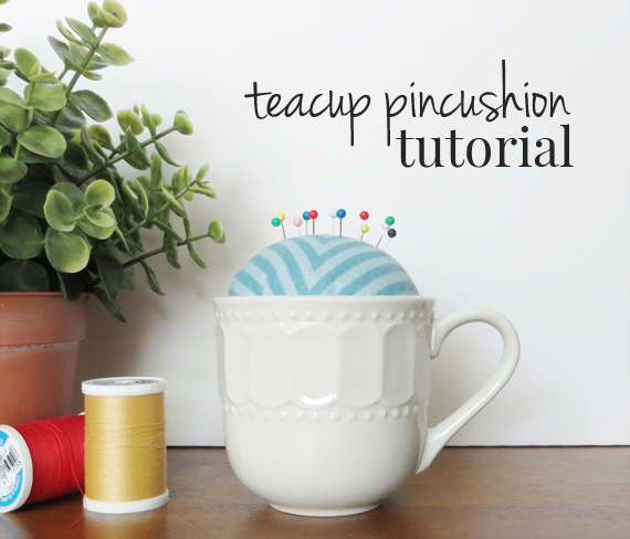 DIY TEACUP PIN CUSHION from Creative Green Living