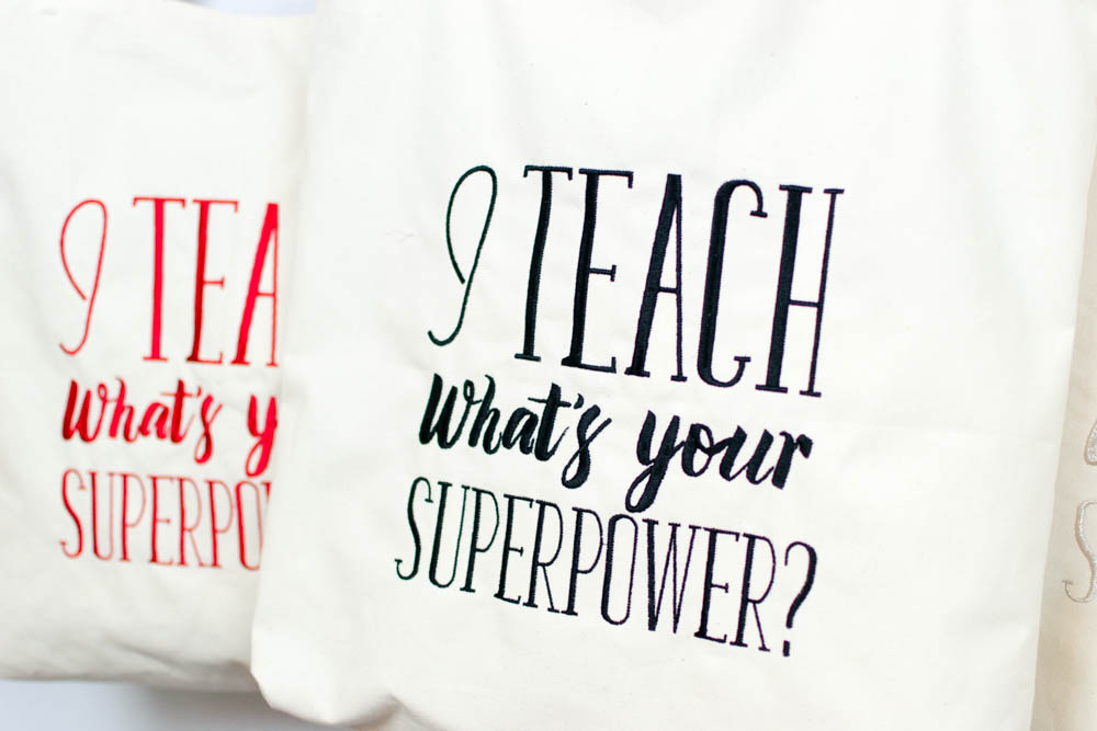 free teacher superpower embroidery design