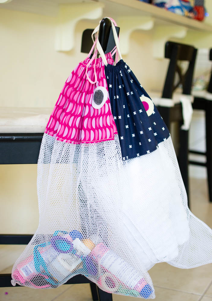 how to sew a fish shaped beach bag