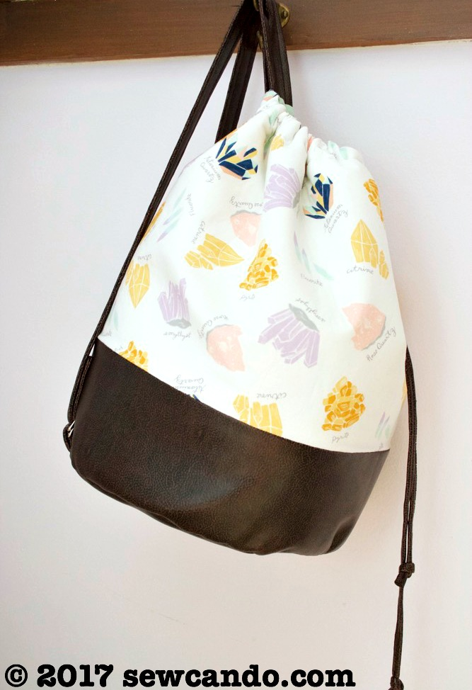 Sew Can Do Supernova Drawstring Pleather Backpack Duffel Hanging_zpsvczenrin.jpg
