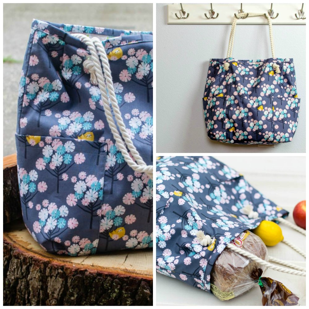 Roomy Shopping Bag Pattern With Cute Rope Handles Sewcanshe