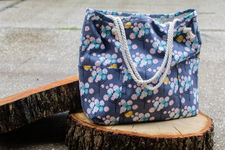 14+ Free Tote Bag Patterns You Can Sew in a Day! (plus tips to make ...