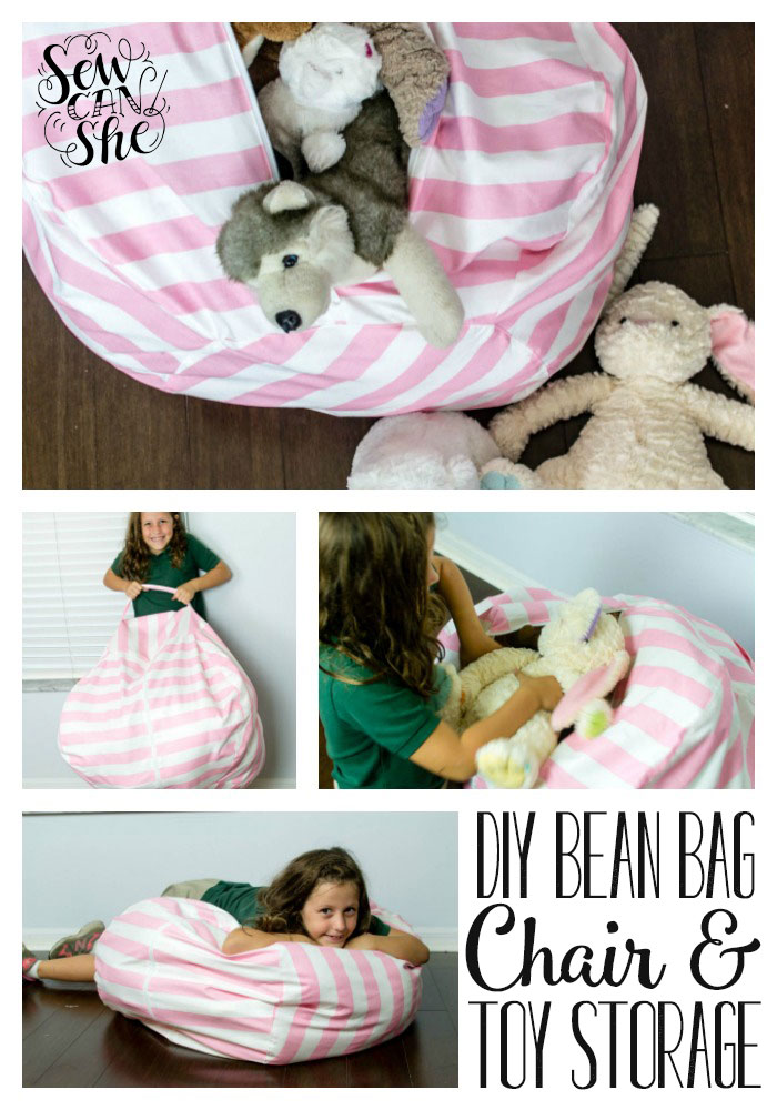 Bean Bag Chair Pattern Toy Storage