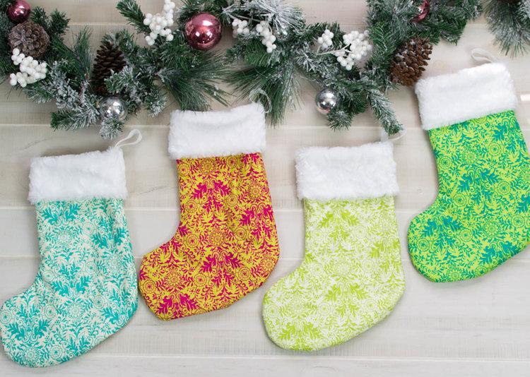 Beautiful and Classic Christmas Stocking Pattern - Free! — SewCanShe ...