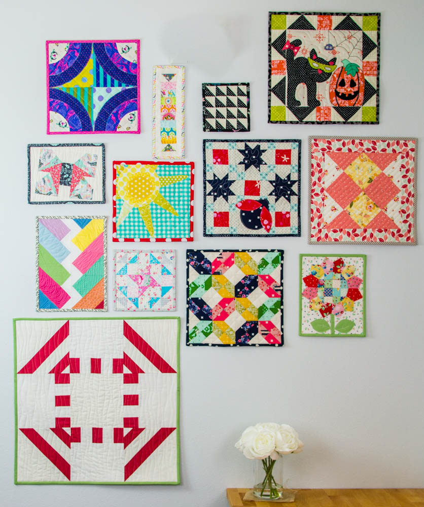 Our 2017 Monthly Mini Quilts