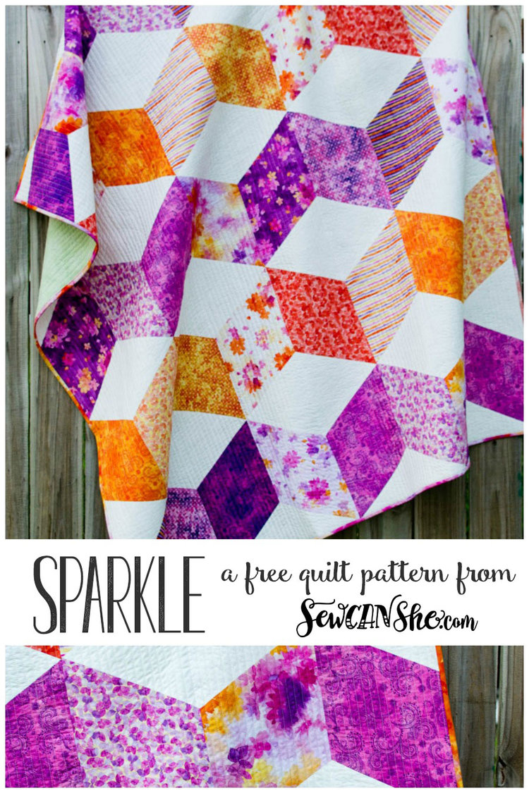 Sparkle quilt free pattern for a gorgeous zig zag quilt sparkle free quilt patterng jeuxipadfo Gallery