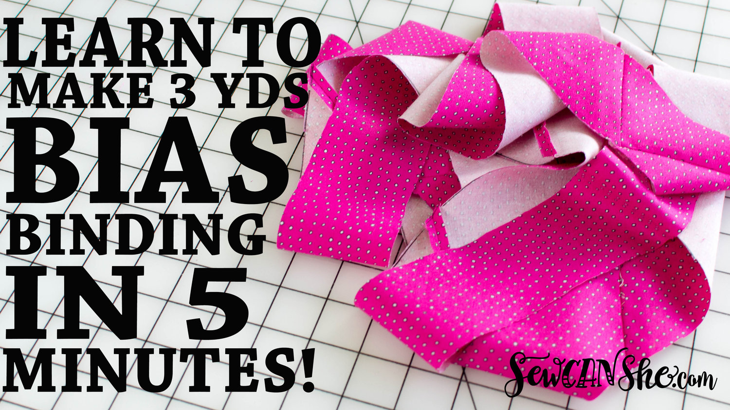 Photo of How to Make 3 Yards of Continuous Bias Binding from a Fat Quarter!!! video tutorial — SewCanShe   Free Sewing Patterns and Tutorials