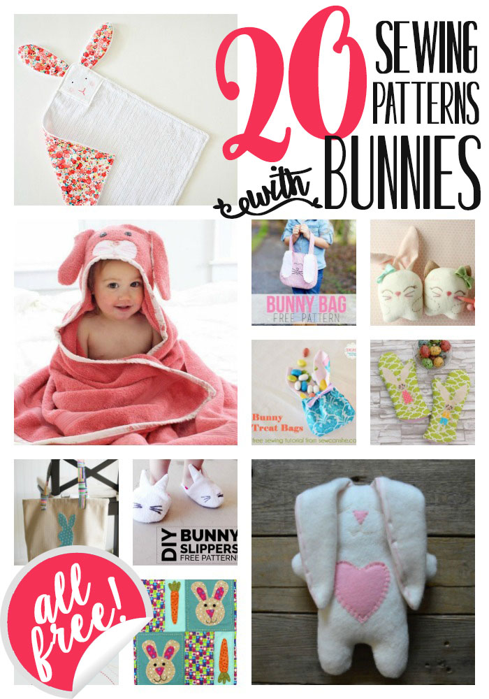 20 Sewing Patterns With Bunnies