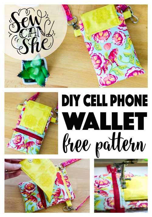 Cell Phone Wallet With Benefits - free sewing pattern! — SewCanShe ...