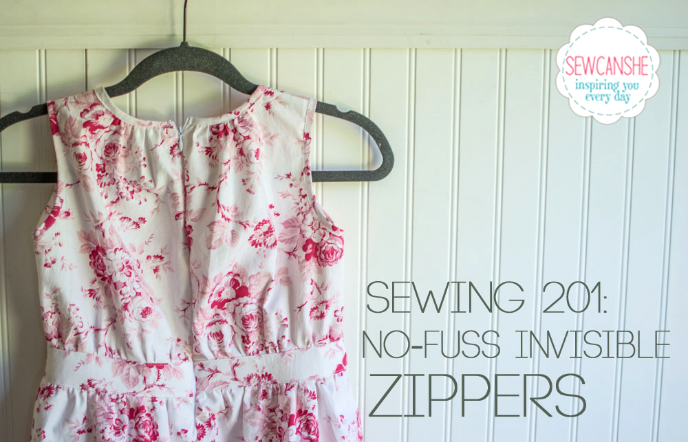The Easiest Way to Sew an Invisible Zipper