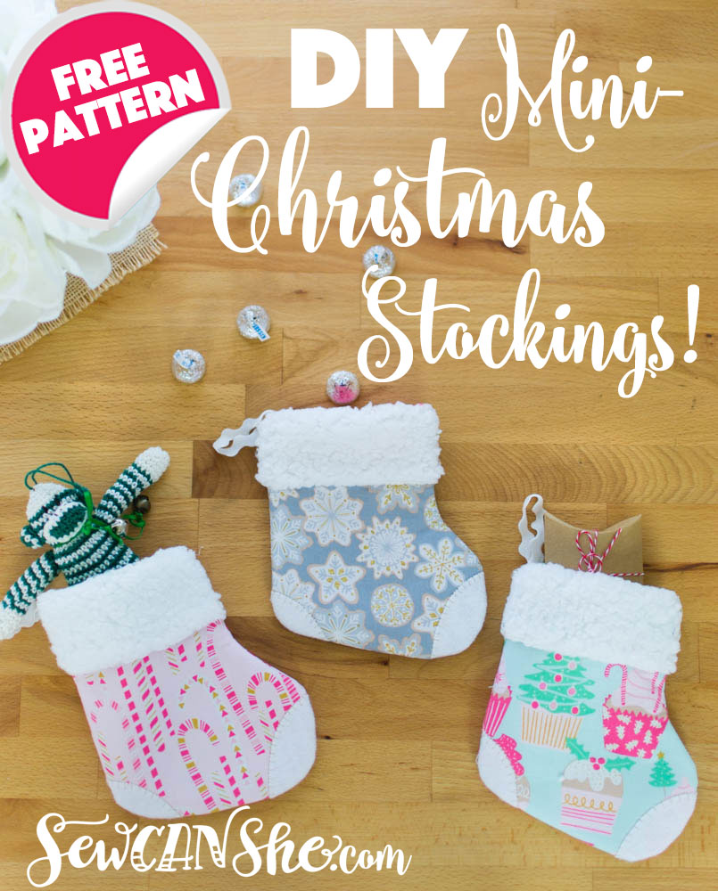 adorable mini christmas stocking free pattern tutorial