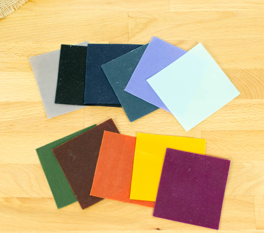 Colors of waxed canvas currently available at Fabric Funhouse.