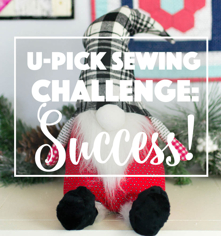 Free Felt Christmas Gnome Pattern.U Pick Sewing Project Success My Christmas Gnome