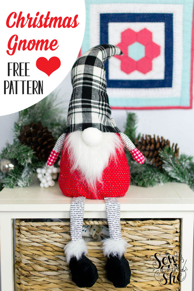 photo about Free Printable Fleece Sock Pattern named Xmas Gnome - cost-free sewing behavior SewCanShe Absolutely free