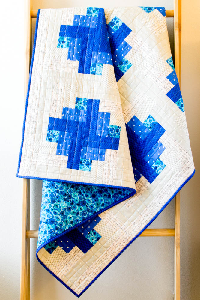 Blueberry Pie Quilt. Click for free pattern.