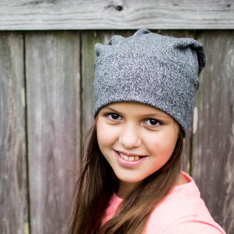 This free hat pattern is great for re-purposed sweater fabrics or scraps.