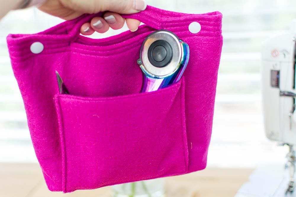 897f0a2ab DIY Felt Purse Organizer - free sewing pattern — SewCanShe