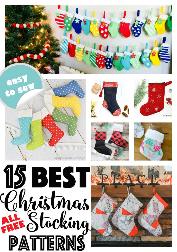 The 15 BEST Free Christmas Stocking Sewing Patterns on the Web!