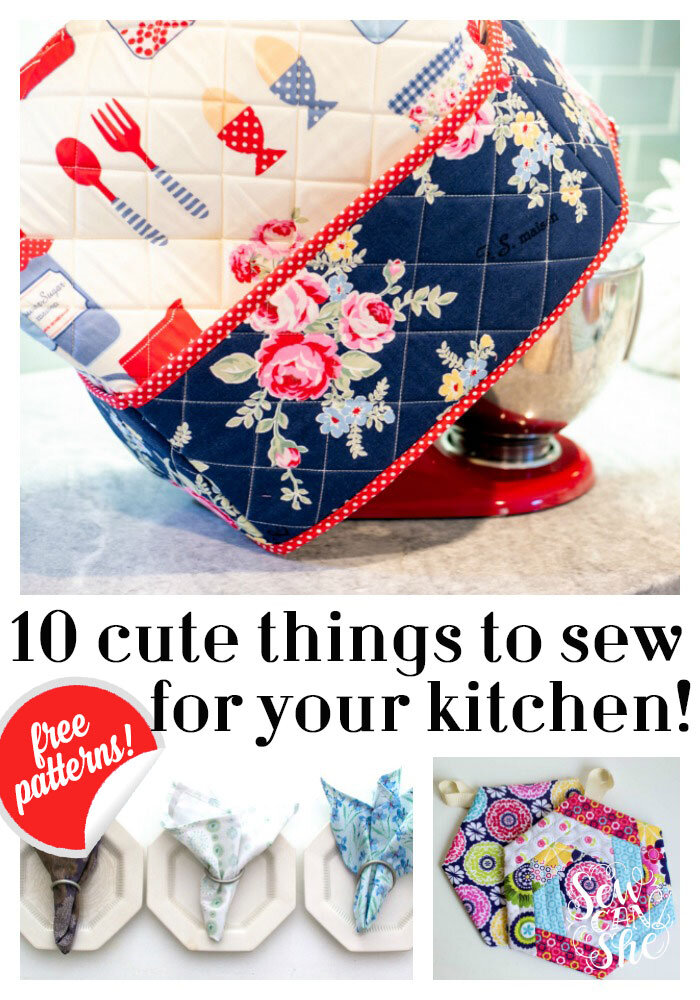 9 Cute Things To Sew For Your Kitchen (all Free Tutorials!) U2014 SewCanShe |  Free Sewing Patterns For Beginners