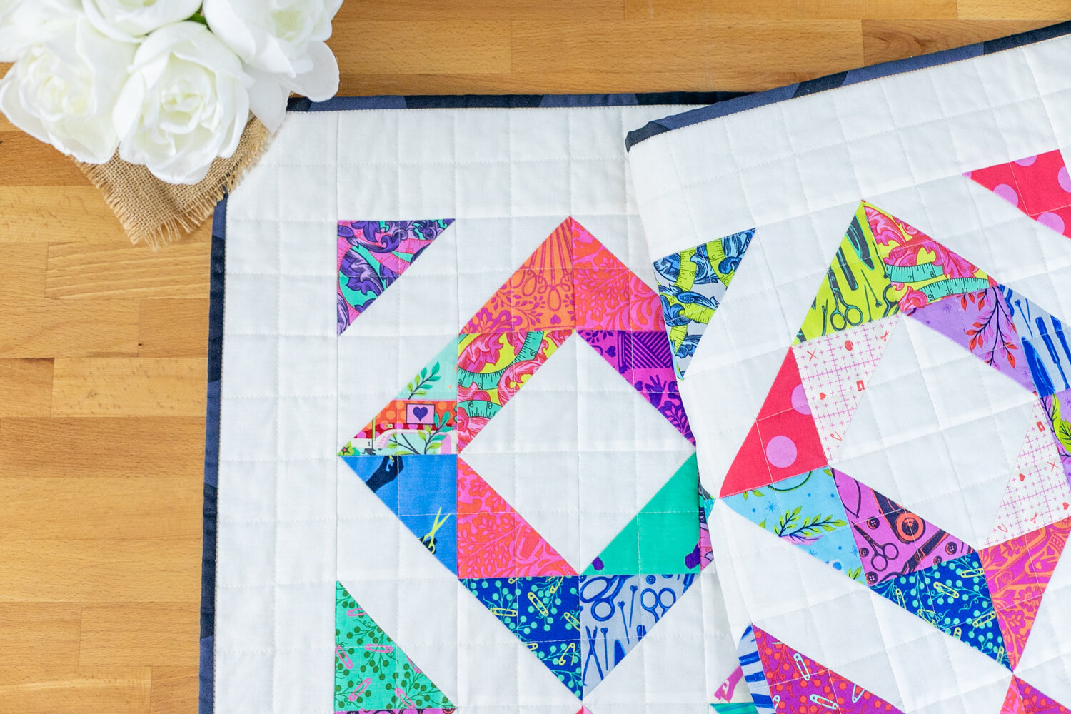 Child's Play Free Quilt Pattern - Easy Baby Quilt with Half Square ...