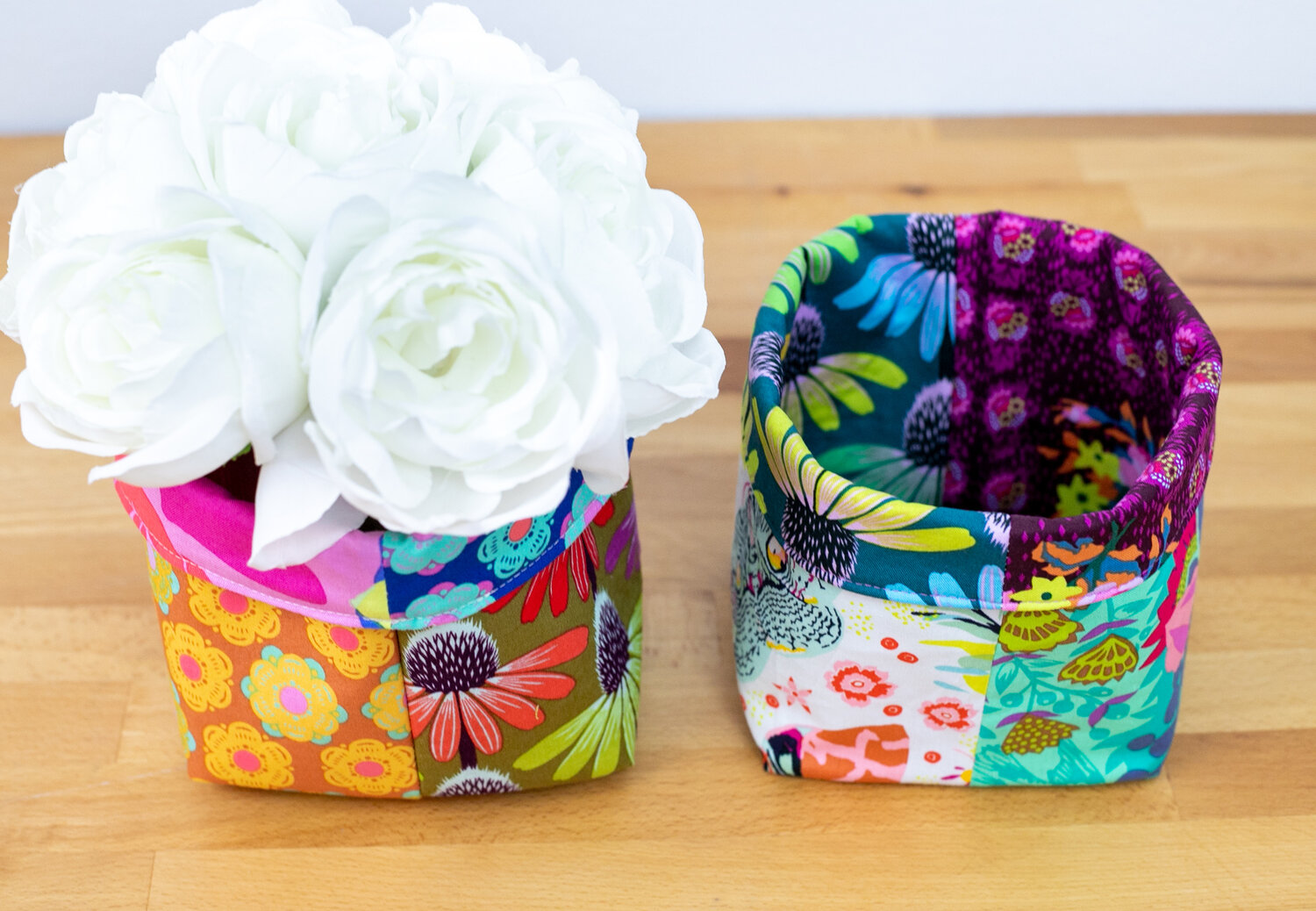 Photo of How to Sew Easy Baskets with 10″ Squares – Layer Cake Leftover Project! — SewCanShe | Free Sewing Patterns and Tutorials