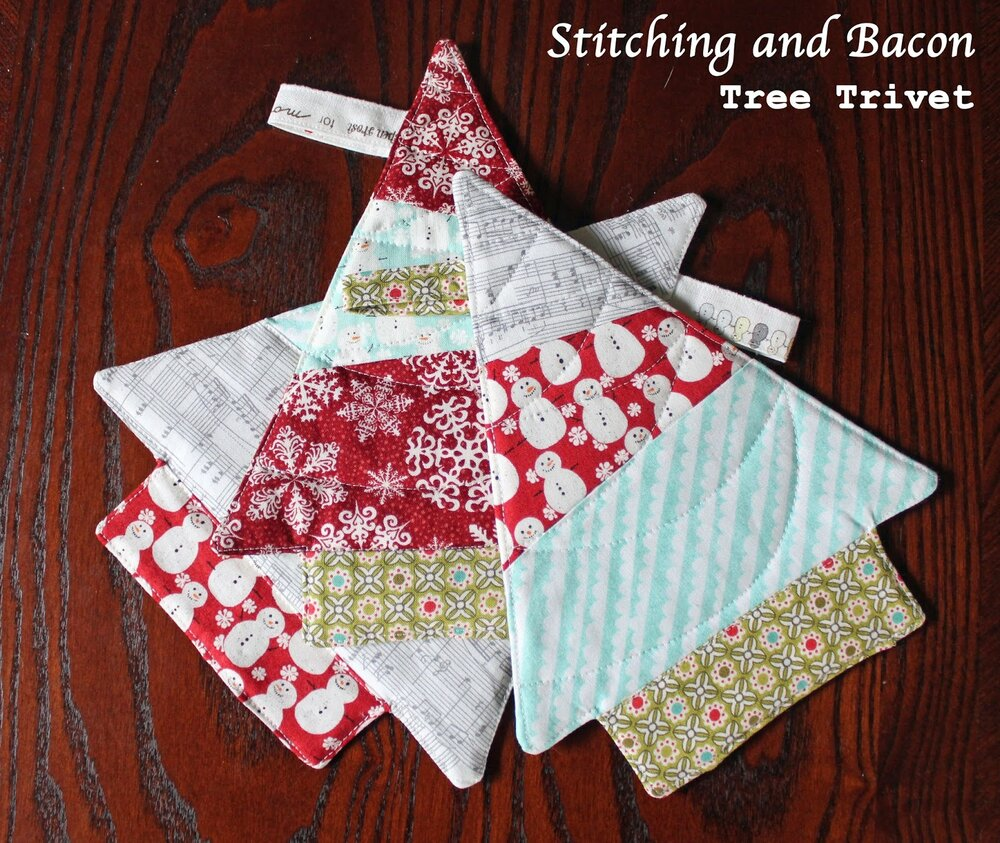 Friday Spotlight Sarah S Easy Christmas Tree Trivets Sewcanshe Free Sewing Patterns And Tutorials