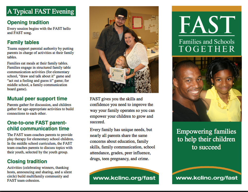Editable F.A.S.T. tri-fold brochure explaining F.A.S.T. and describing a typical evening with the program.   Use this Microsoft Publisher 2010 document to insert your school's information.   Download