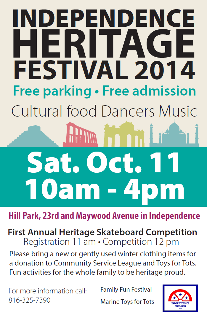 Independence Heritage Festival 2014 celebrates and supports the Independence, Missouri community.