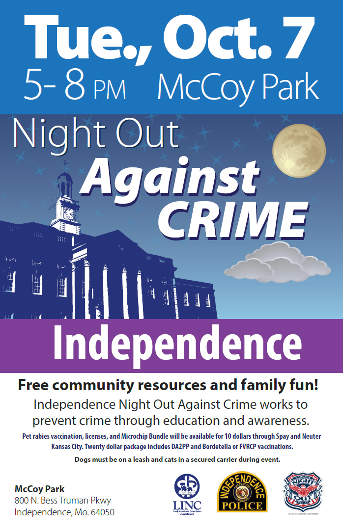 Independence Night Out Against Crime flyer image