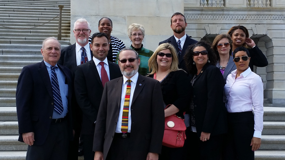 2014-2015 EPFP fellows at the U.S. Capitol.