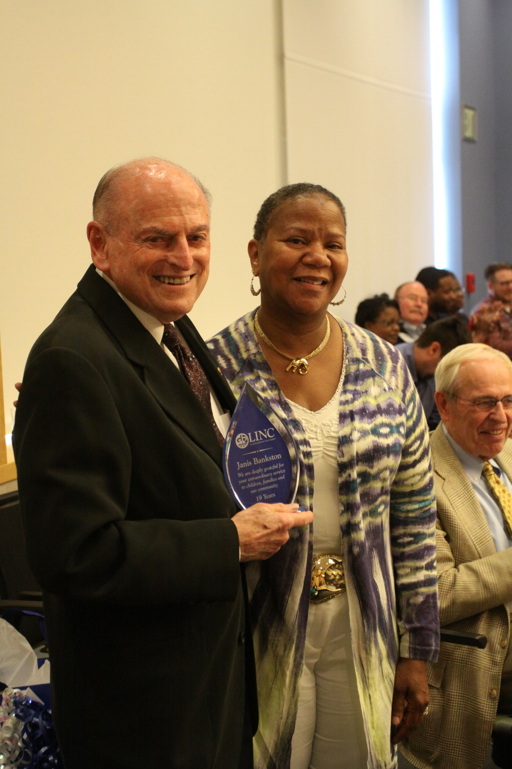 Janis Bankston recognized by Bert Berkley