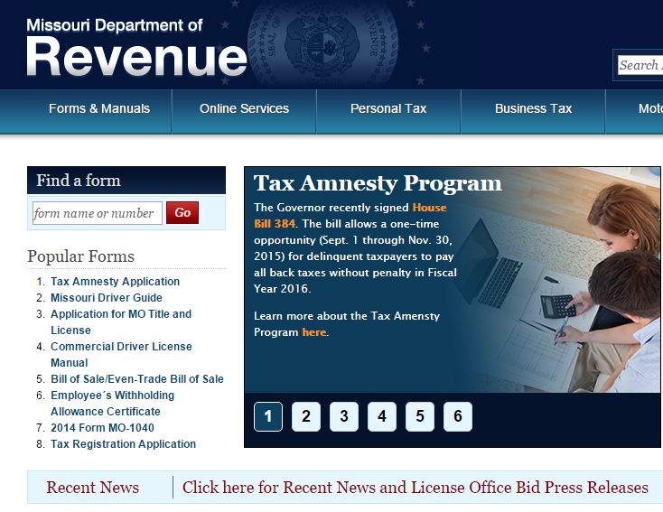 To learn more, and to download the Missouri Tax Amnesty application, visit dor.mo.gov