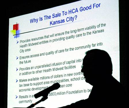 Nov. 18, 2002, public hearing on the sale of Health Midwest at the Linwood Multipurpose Center in Kansas City, Mo.