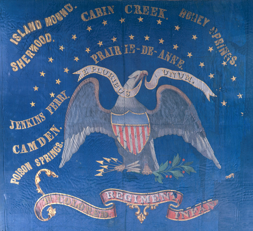 The flag of the 1st Kansas Colored Infantry