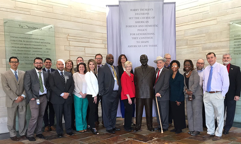 2016-2017 EPFP fellows at the Harry S. Truman Presidential Library and Museum.