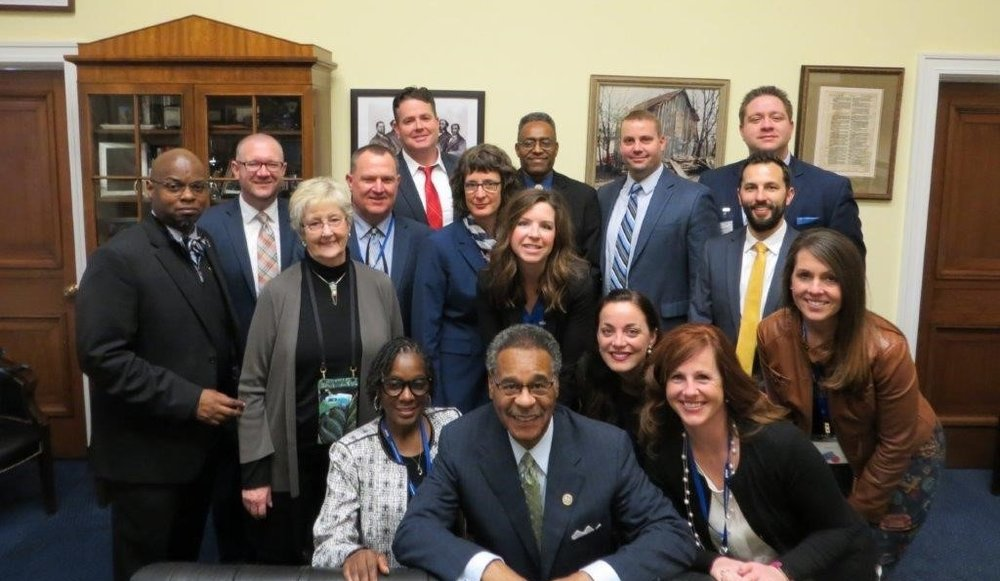 Members of the 2017-2018 EPFP class met with U.S. Rep. Emanuel Cleaver II during their visit to the nation's capitol for the Washington Policy Seminar.